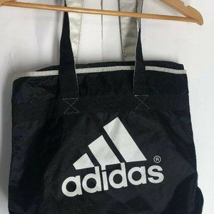 Adidas Bag Black Tote Zipper Closure Gym Workout